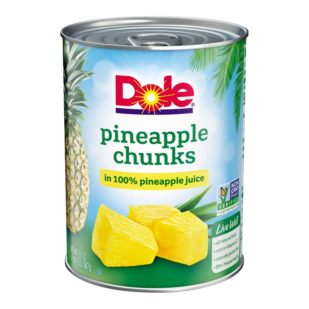Dole pineapples chunks 20 oz